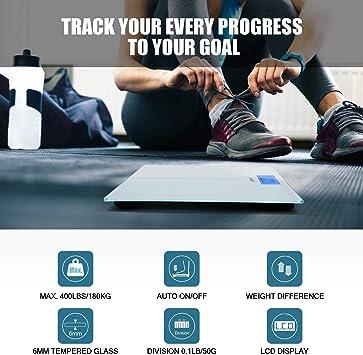Amazon.com: Letsfit Báscula digital de peso corporal ...