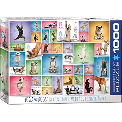 EuroGraphics Yoga Dogs 1000-Piece Puzzle: Toys & Games