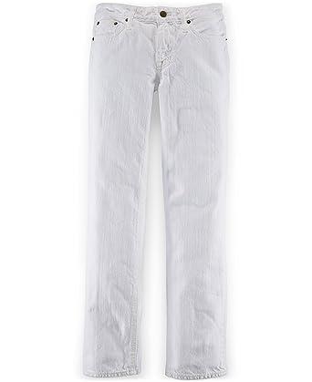 01e5d41debb5 Amazon.com  RALPH LAUREN Polo Boys  White Wsh Slim Fit Skinny Jeans ...