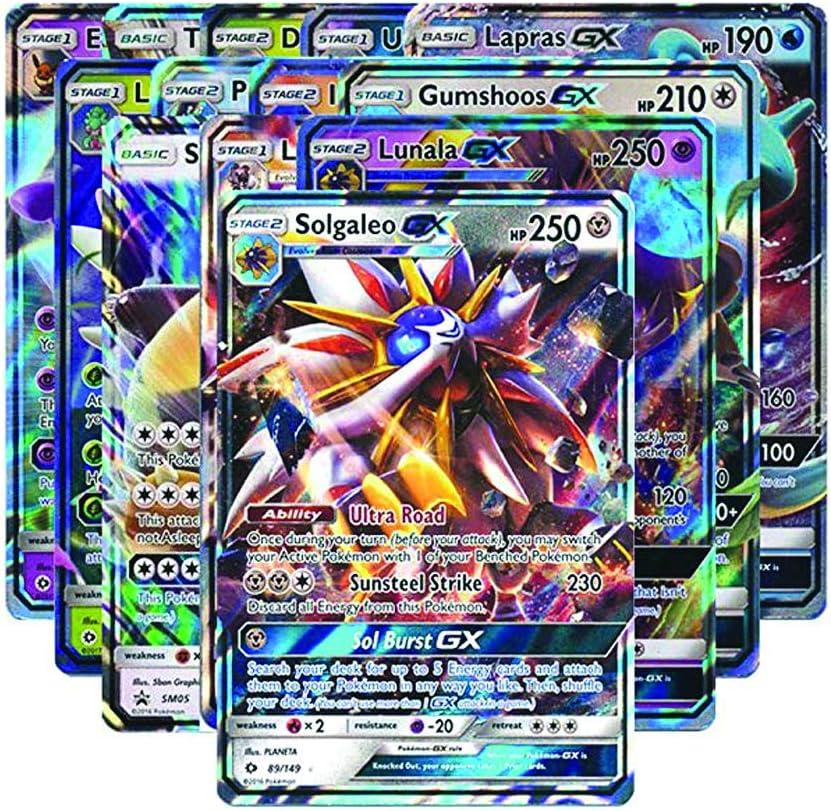 Cartes Pokemon 10 cartes avec rares holo /& GX garantit-Comme un booster!