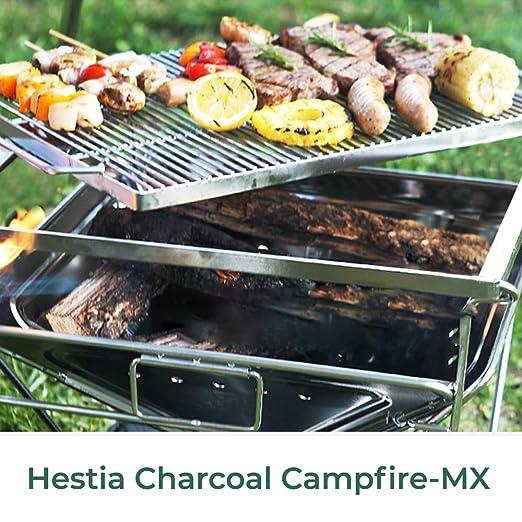 Amazon.com: Kazmi Hestia - Parrilla portátil de carbón ...