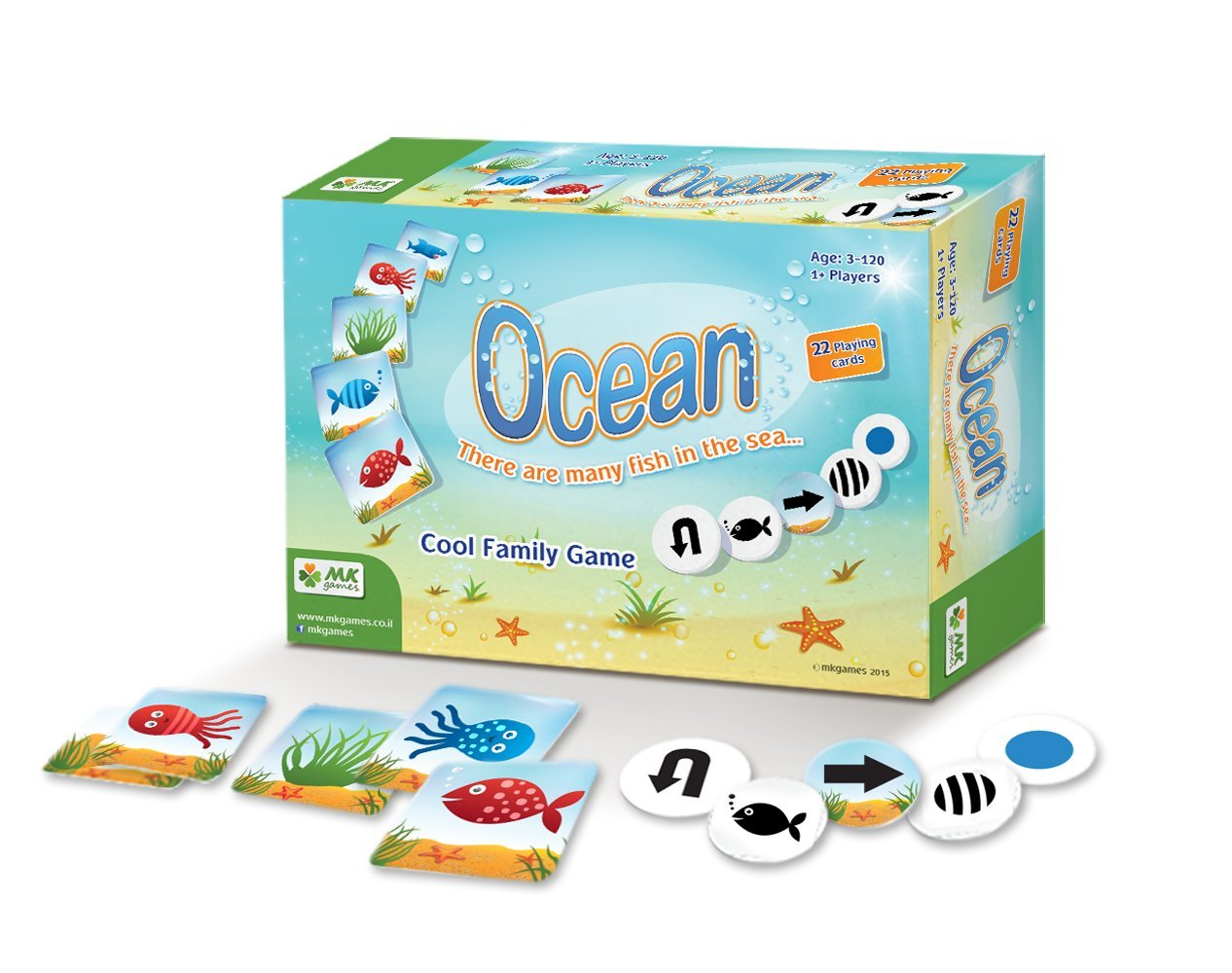 MKgames Educational family card game - Ocean. Develops cognitive & learning skills: visual perception, memory more. Kids age 3+. Ideal Professional Toolkit