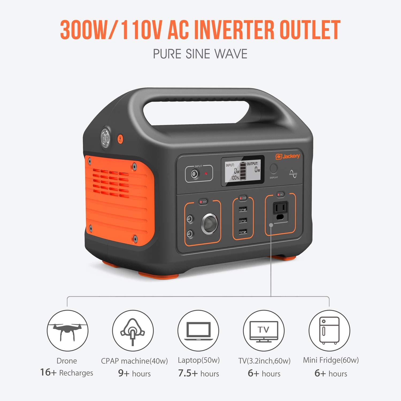 Jackery Portable Power Station Generator Explorer 160 167wh Solar Home Supply Inverter Lithium Battery Backup