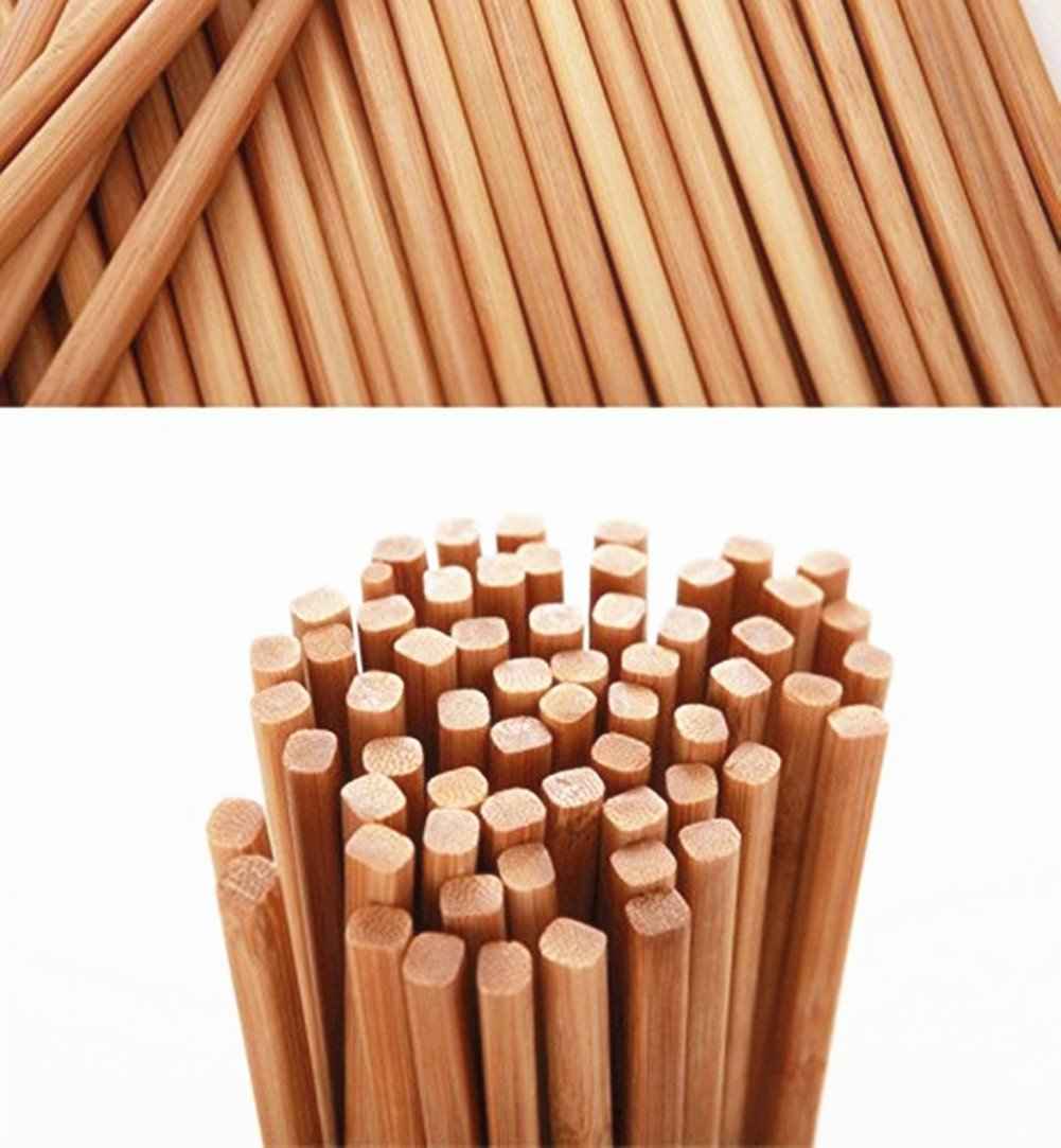 Chinese Natural Bamboo Chopsticks, Mannice 10.6Inch/27cm Long Lightweight Chopstick Set -10 Pairs Gift Sets Color1