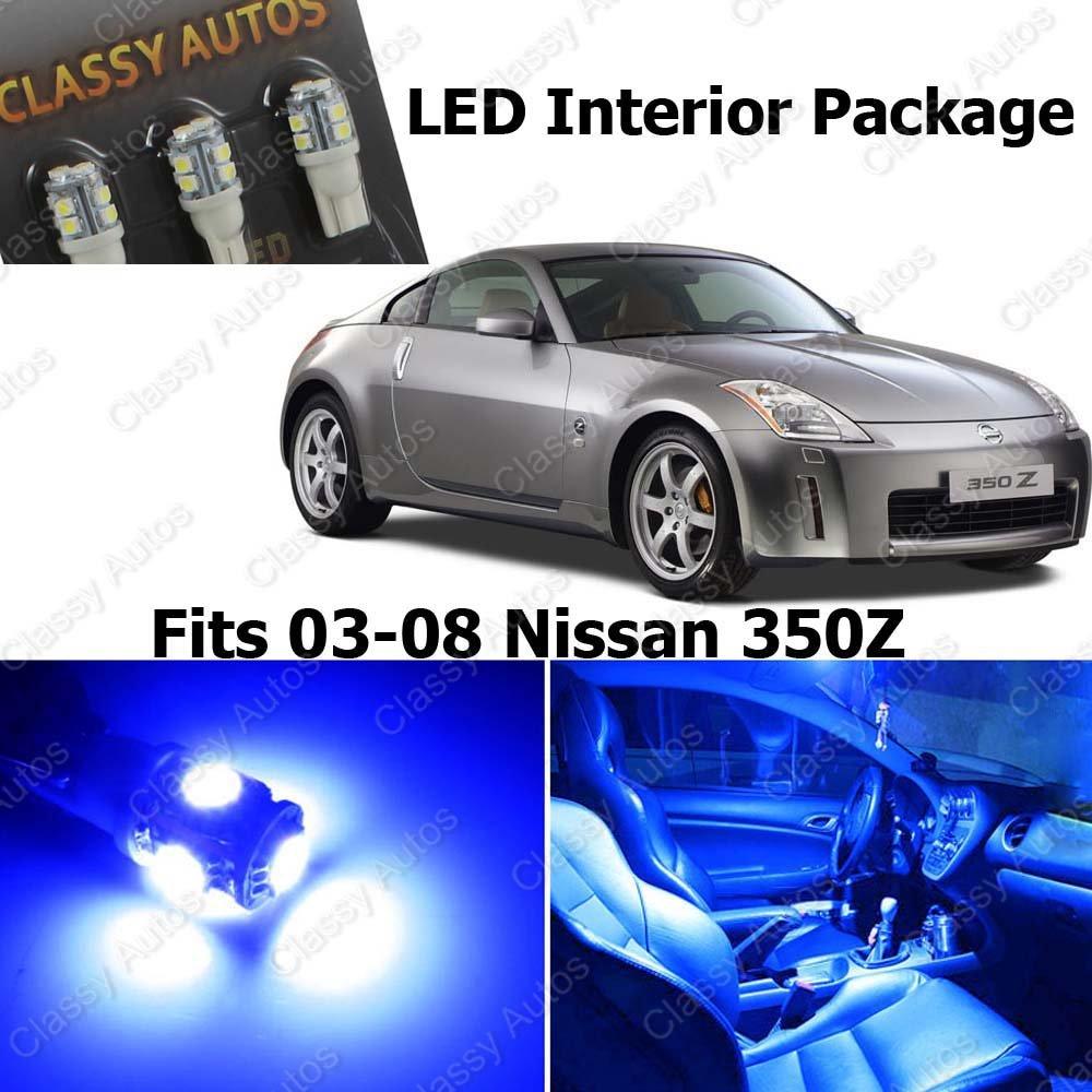 Amazoncom Classy Autos Nissan 350z Blue Interior Led Package 5