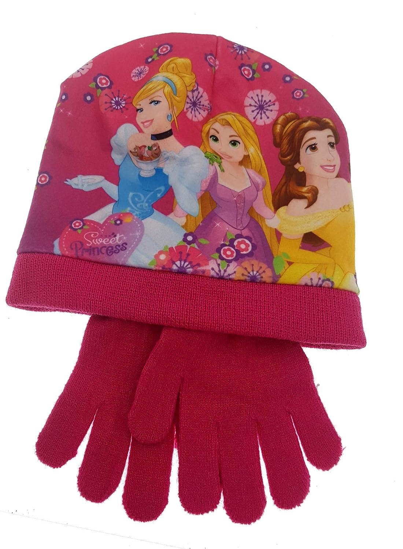 Cappello e Guanti Principesse Princess Bambina