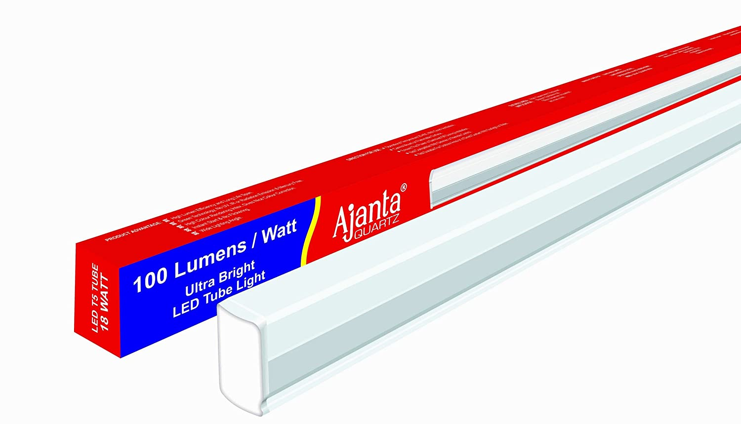 Ajanta QuartzT5 Square 18-Watt LED Tubelight (White) Warranty 2 years