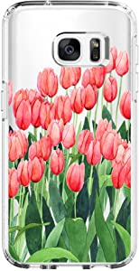 Samsung Galaxy S6 Edge Case,Flyeri Crystal Fashion Floral Pattern Transparent Clear Soft Silicone TPU Ultra Thin Phone Cover Back Cases for Samsung Galaxy S6 Edge (1)