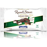 Russell Stover Sugar-Free Dark Chocolate Mix, 10 Ounce Laydown Bag, Sugar-Free Candy, Individually Wrapped Candy, Assorted Chocolate Candy Pack Sweetened with Stevia