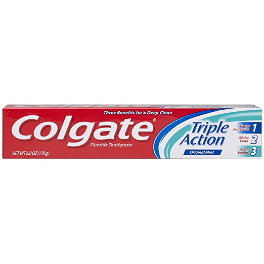 Colgate Triple Action Toothpaste, 6 Ounce (Pack of 6)