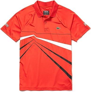 Lacoste Sport Dh3382 Polo, Rojo (Mexico/Noir Blanc 6hh), XXX-Large ...