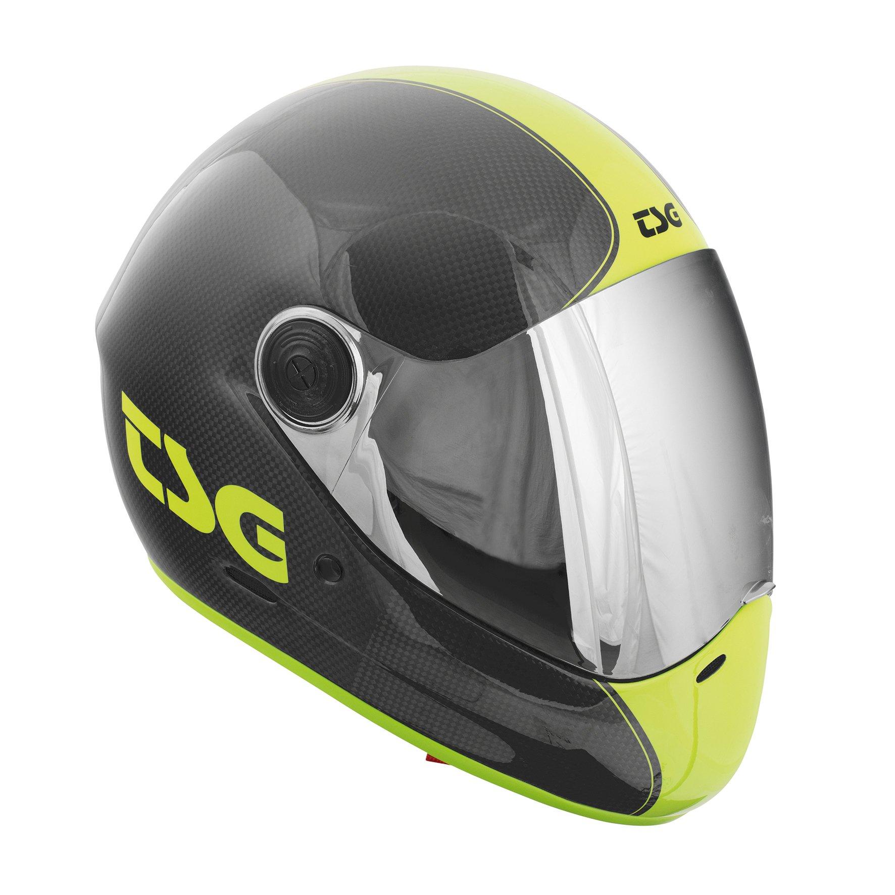 TSG Pass Pro Carbon Graphic Design (+ Bonus Visor) - Helmet for Skate (shoot, S 54-56 cm) by TSG