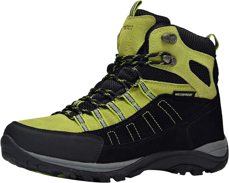 riemot Scarpe da Trekking Donna Uomo Alte Scarponi da Montagna Impermeabili Leggero e Traspiranti Scarponcini da Escursionismo Passeggio Arrampicata Sportiva Allaperto