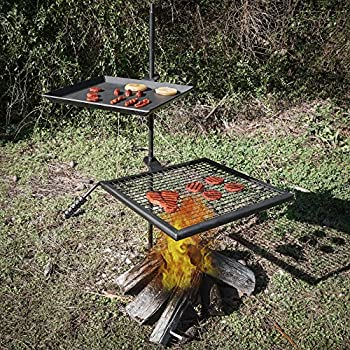 Amazon.com : Titan Campfire Adjustable Swivel Grill Fire Pit Cooking Grate Griddle Plate BBQ : Garden & Outdoor