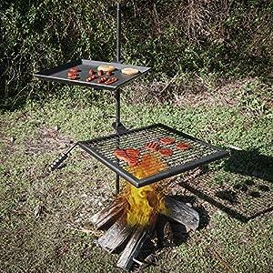 Amazon Com Titan Campfire Adjustable Swivel Grill Fire