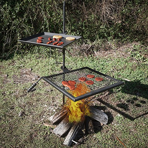 Titan Campfire Adjustable Swivel Grill Fire Pit Cooking Grate Griddle Plate BBQ by Titan Great Outdoors