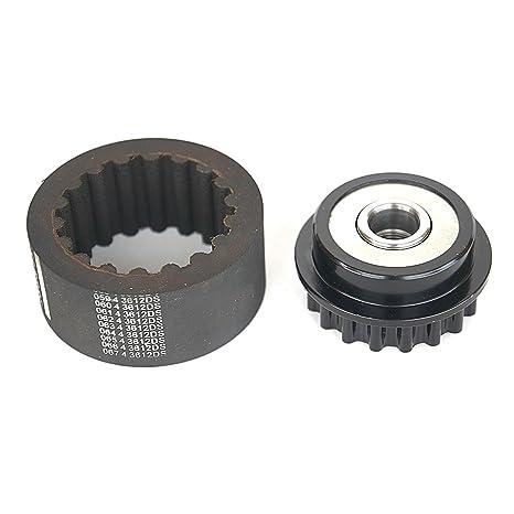 Amazon.com: Flexible Coupling Sleeve+Alternator Clutch Freewheel Compatible For VW Multivan T5 2.5 TDI: Automotive