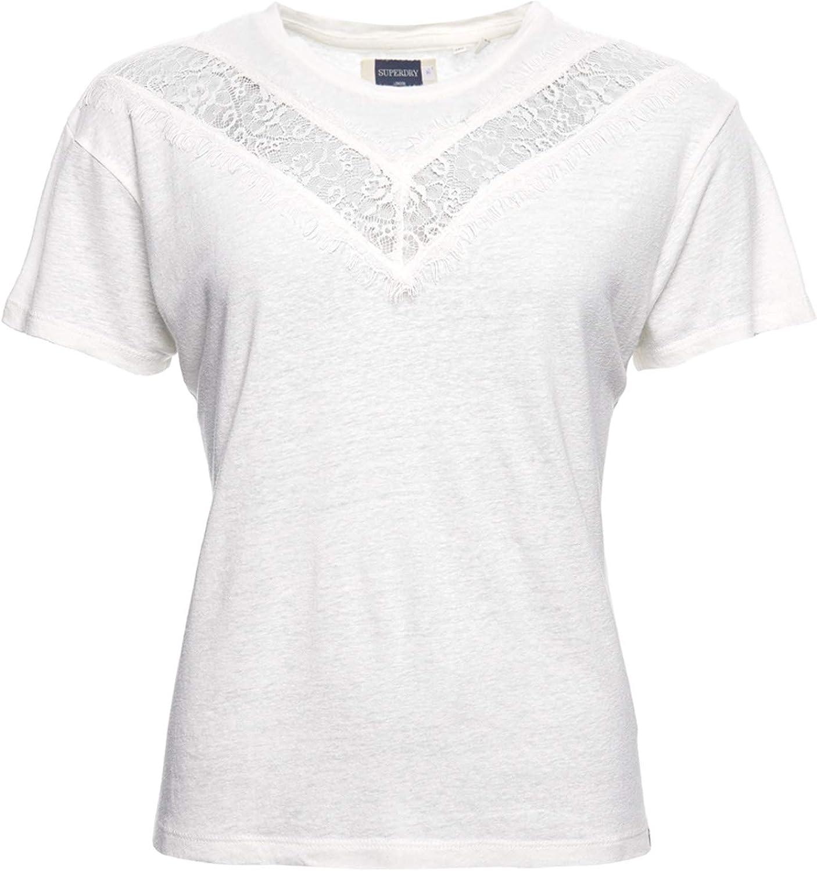 Superdry Mujer Camiseta de Encaje Chevron: Amazon.es: Ropa y accesorios