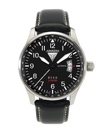 Junkers Reloj Analógico Automático para Hombre con Correa de Piel - 66642: Amazon.es: Relojes