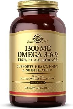 Solgar Omega 3-6-9 Cápsulas blandas - Envase de 120