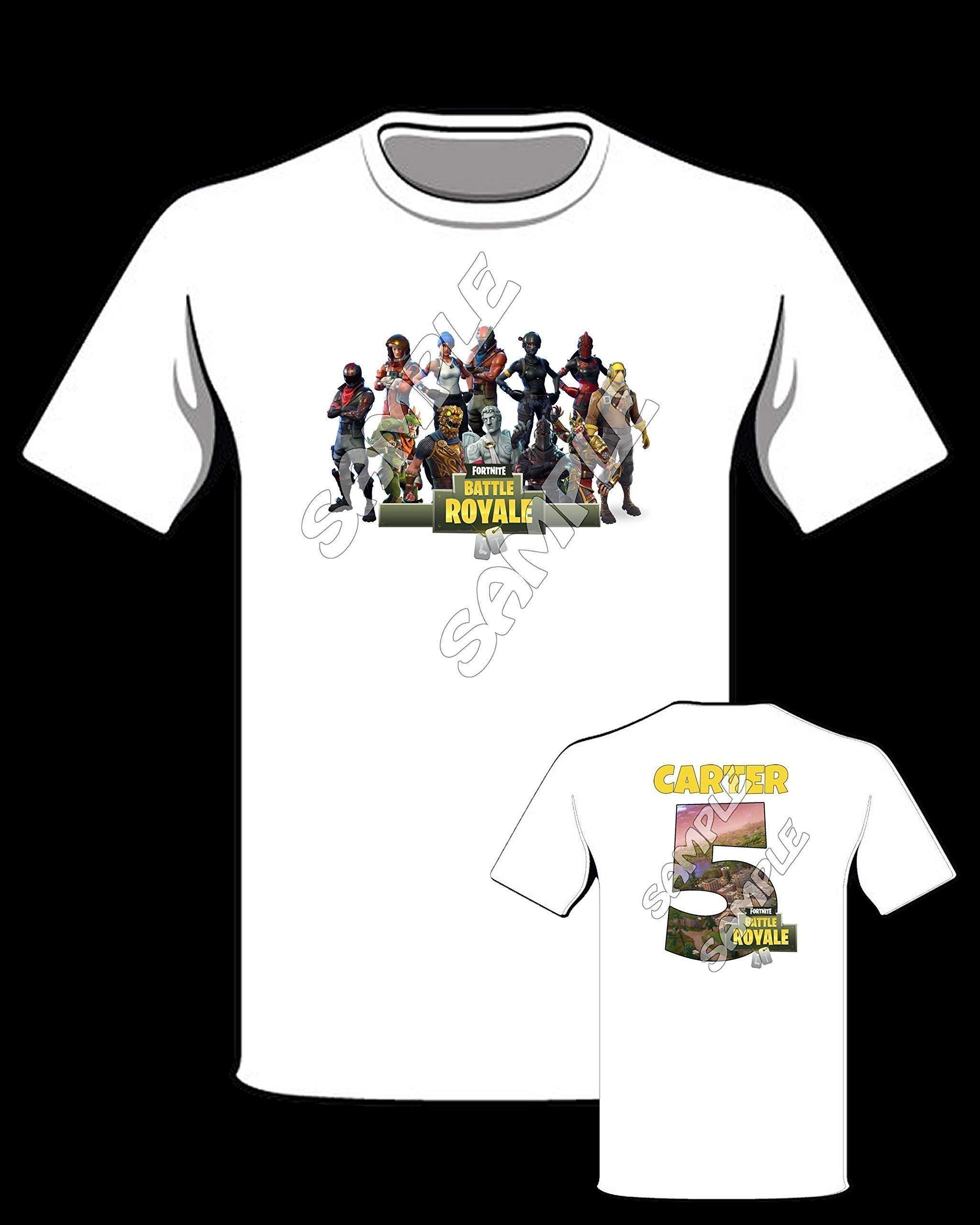 Fortnite themed Personalized Shirt, Fortnite birthday shirt #2
