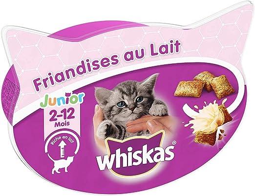 Whiskas Junior - Juego de Dulces con Leche para Gatos y Gatitos (2-12 Meses), 8 Cajas de 55 g de premios: Amazon.es: Productos para mascotas