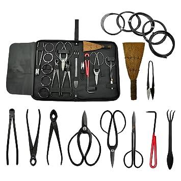 Voilamart Bonsai Werkzeug-Kit 10-teiliges Set Carbon Stahl Schere ...