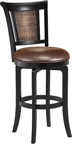 Hillsdale Furniture Cecily Stool, Counter, Black Honey Finish