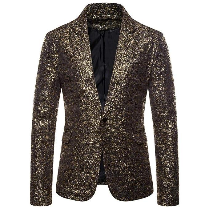 QXPORV Suit Blazer Giacche Abito da Uomo abbronzante Punto