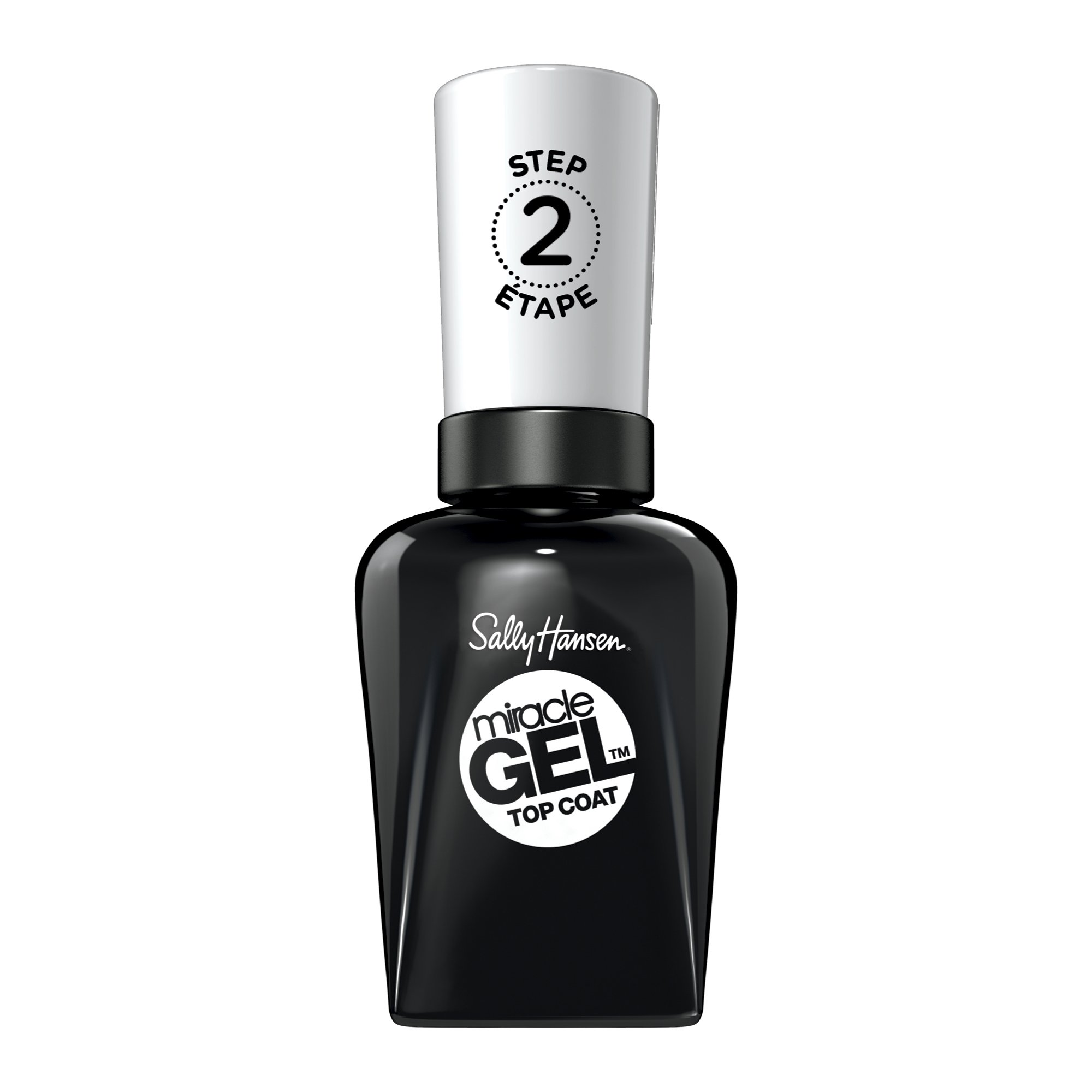 Sally Hansen Miracle Gel Nail Polish, Top Coat 0.5 Ounce No UV Lamp Required Gel Nail Polish Chip Resistant Polish Long-lasting