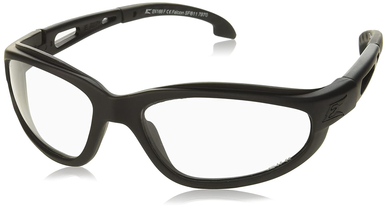 faf8eef869 Amazon.com  Edge Tactical Eyewear SF611 Falcon Matte Black with Clear Lens   Home Improvement