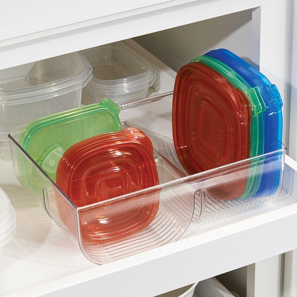 Amazoncom mDesign Food Storage Lid Organizer for