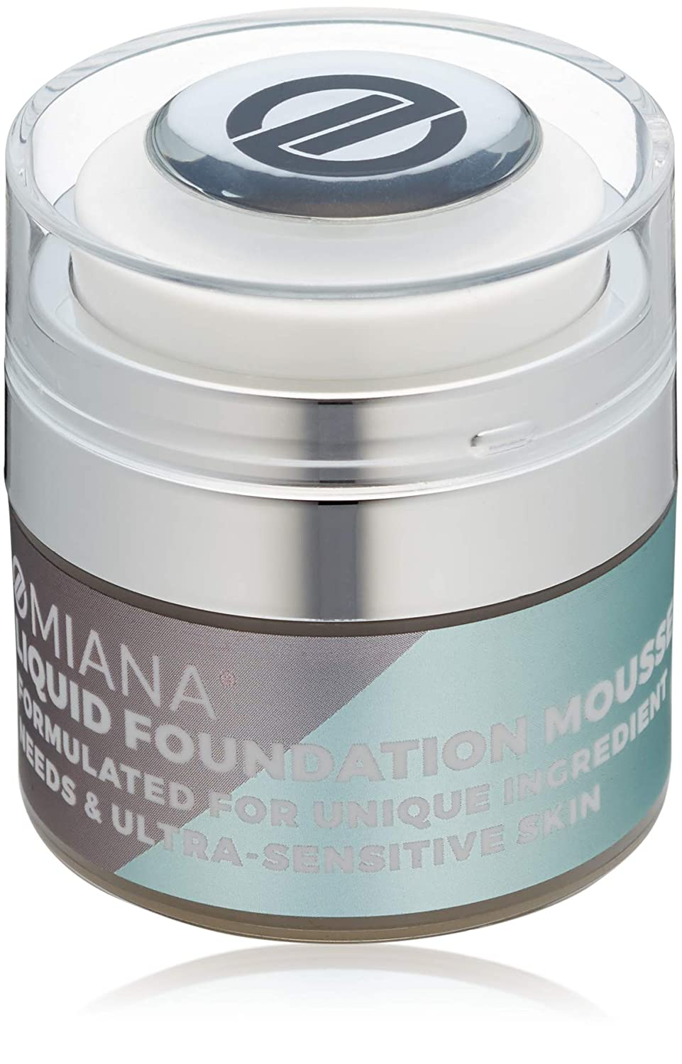 Omiana Liquid Foundation Mousse - Natural Foundation, Concealer, and Contour Makeup, Mica-Free, Made in the USA, Light Tan