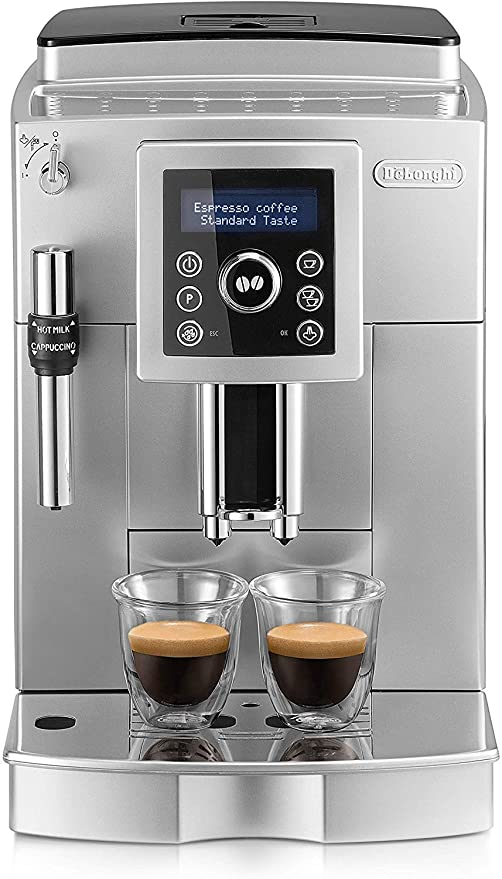 Delonghi Ecam 23.420.sb - Cafetera superautomática, 15 bares presión, depósito agua extraíble 1,8l, panel lcd, sistema cappuccino, dispensador de ...