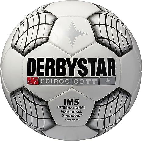 Derbystar 1286 Sirocco TT - Balón de fútbol Blanco Negro Talla:4 ...