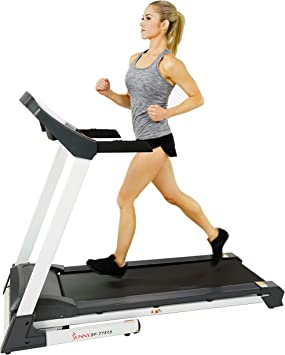 Sunny Health & Fitness SF-T7515 Smart Treadmill with Auto Incline, Speakers, Bluetooth, LCD and Pulse Monitor, Phone Function, 240 LB Max Weight