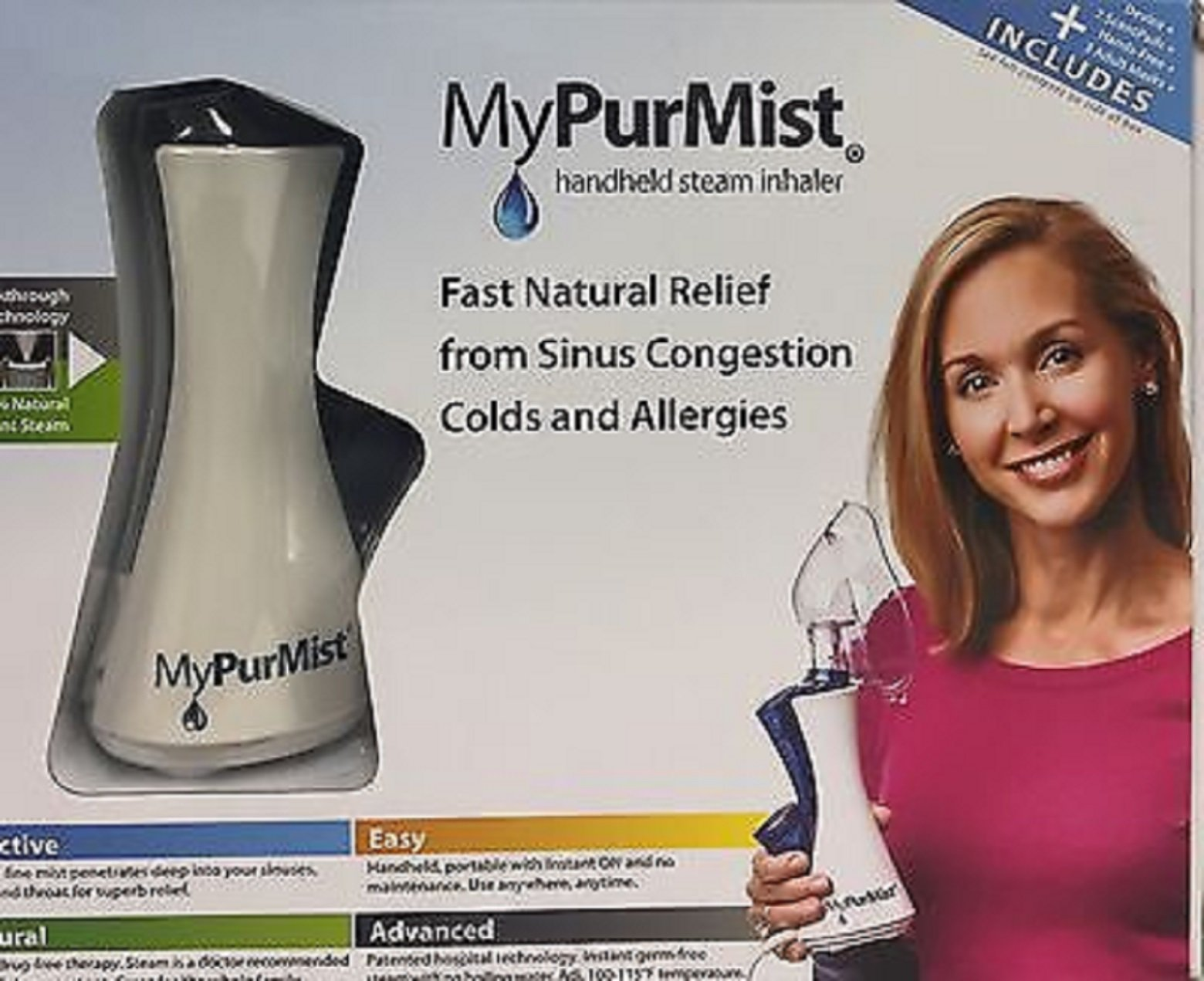 MyPurMist Handheld Steam Inhaler by MyPurMist