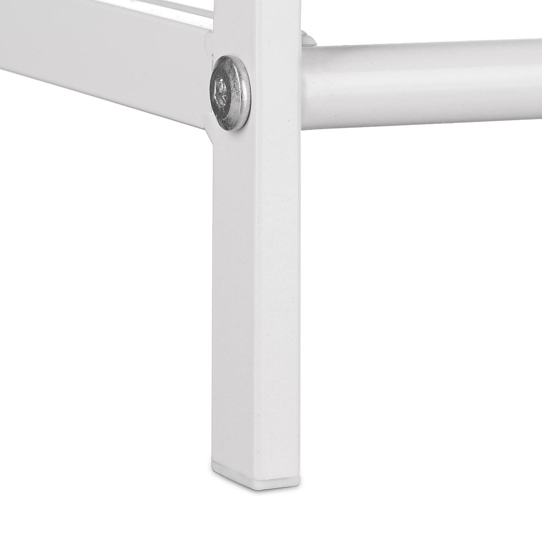 Ideale per Ingresso collezzione Sandra con 2 Ripiani Colore Bianco 33,5 x 69,5 x 26 cm Relaxdays Scarpiera//Mobile portascarpe in Metallo con Maniglie e Le Seguenti Misure HBT: ca