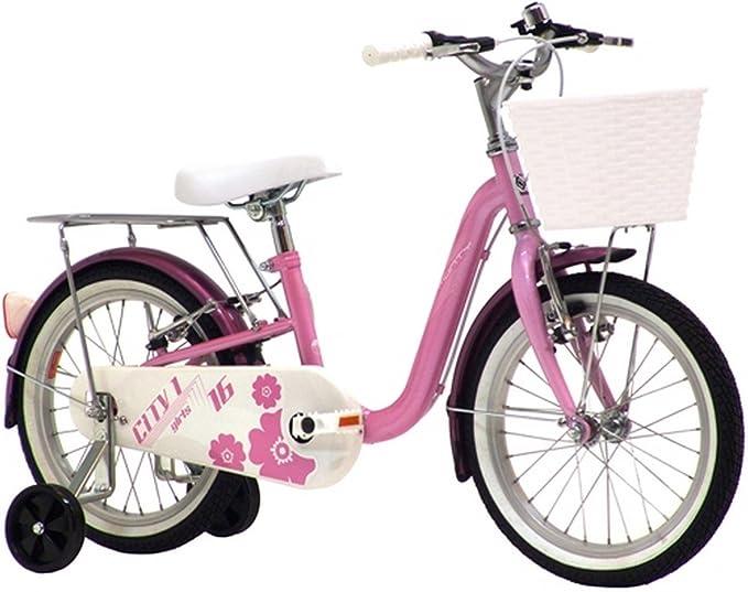 Monty City1 - Bicicleta de Paseo para niña, Cuadro de Acero de 9 ...
