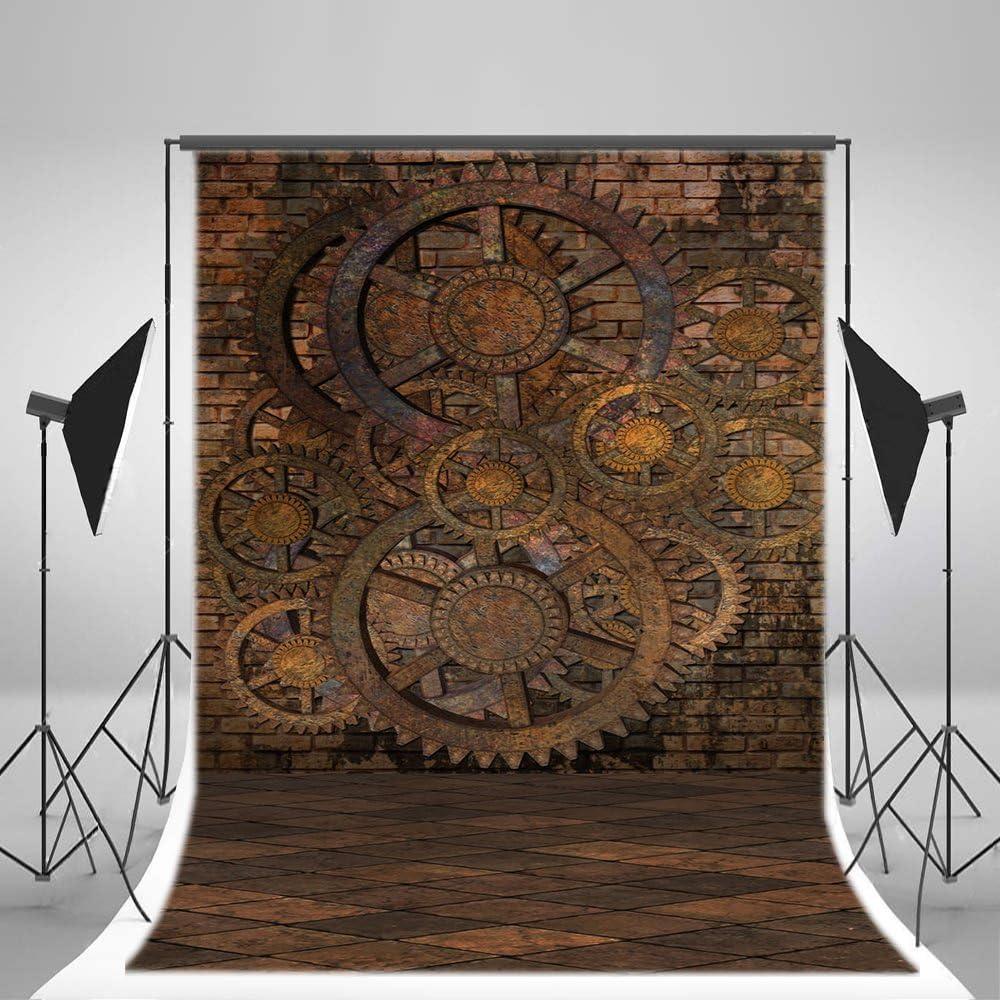 Amazon Rbabyphoto 5 X 7ftスチームパンクbackdrop Nostalgia Rusty歯車グランジレンガ壁紙gloomy正方形パターン大理石床写真背景forメンズレディースフォトスタジオ小道具ビニールck67 バックペーパー 背景布 通販