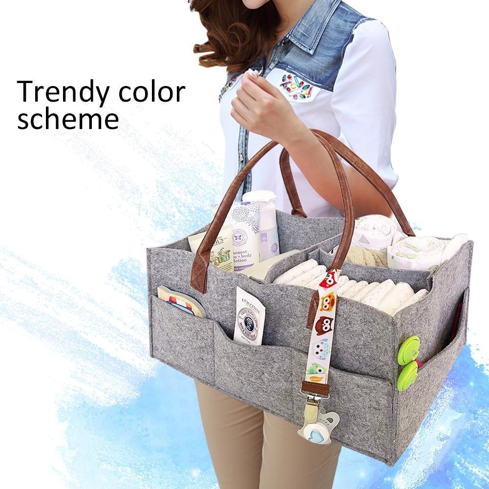 grande capacit/é sac de b/éb/é pliant feutre sac de stockage de couche-culotte organisant des enfants jouets organisateur de fourre-tout Starter Organisateur de sac /à main de couche-culotte