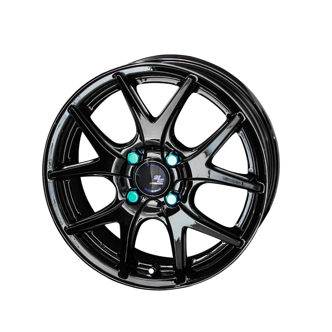 KYOHO【共豊】タイヤホイール 2本セット 15インチ STEINER SL5 15X5.5 +43 4H100 カラー グロスブラックサイドカット B01DVN68TE