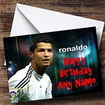 Personalised Ronaldo Real Madrid Birthday Card Amazon Office