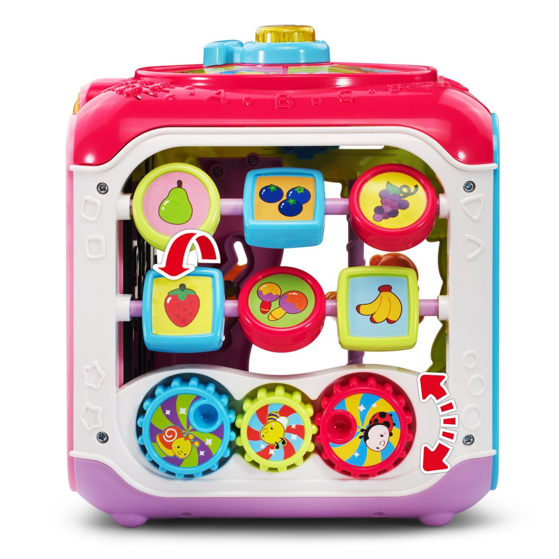 VTech Sort & Discover Activity Cube, Pink by VTech (Image #4)