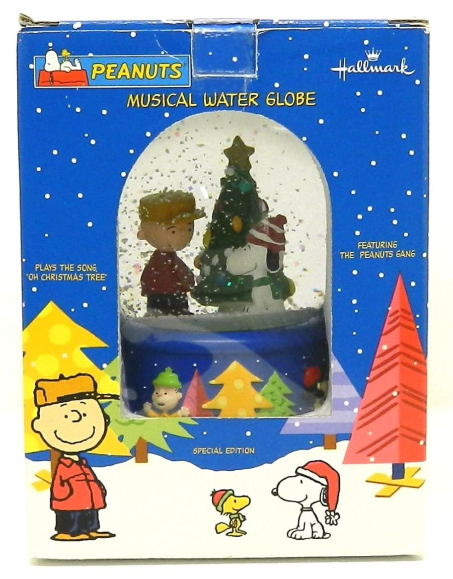 Amazon.com: Peanuts Christmas Musical Snow Globe by Hallmark: Home ...