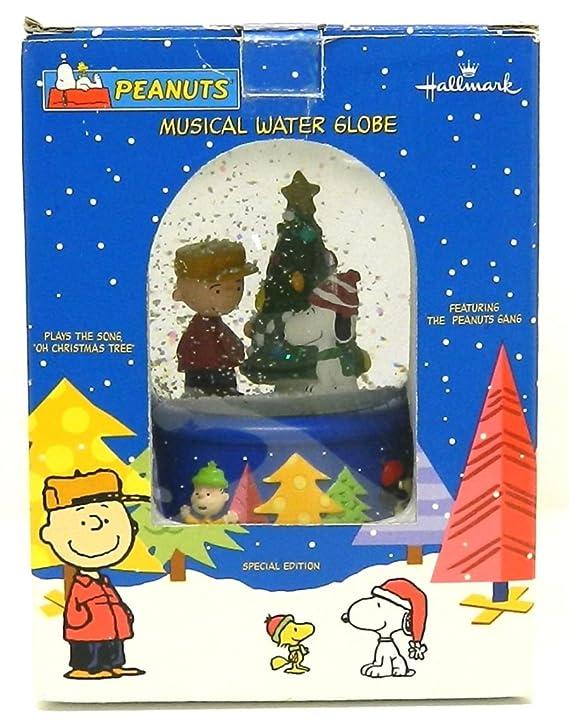 Peanuts Christmas Musical.Amazon Com Peanuts Christmas Musical Snow Globe By Hallmark