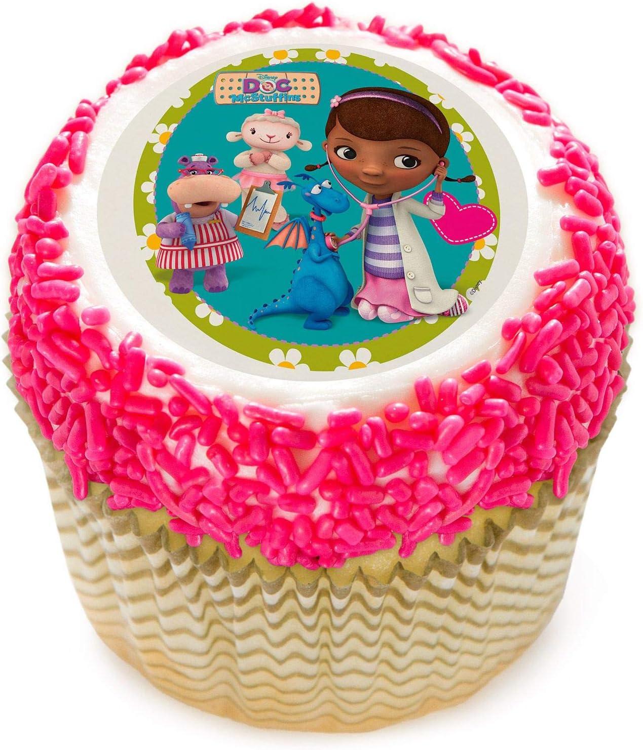Fabulous Amazon Com Doc Mcstuffins 2 Edible Cupcake Topper 12 Images Funny Birthday Cards Online Elaedamsfinfo