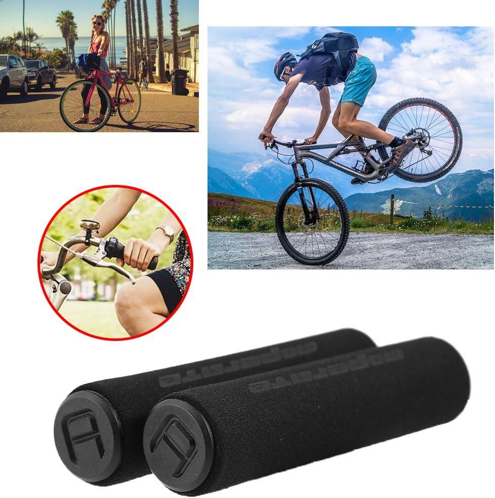 2pcs Black MTB Bike Bicycle Handlebar Grip Smooth Sponge Foam Tube Cover TR