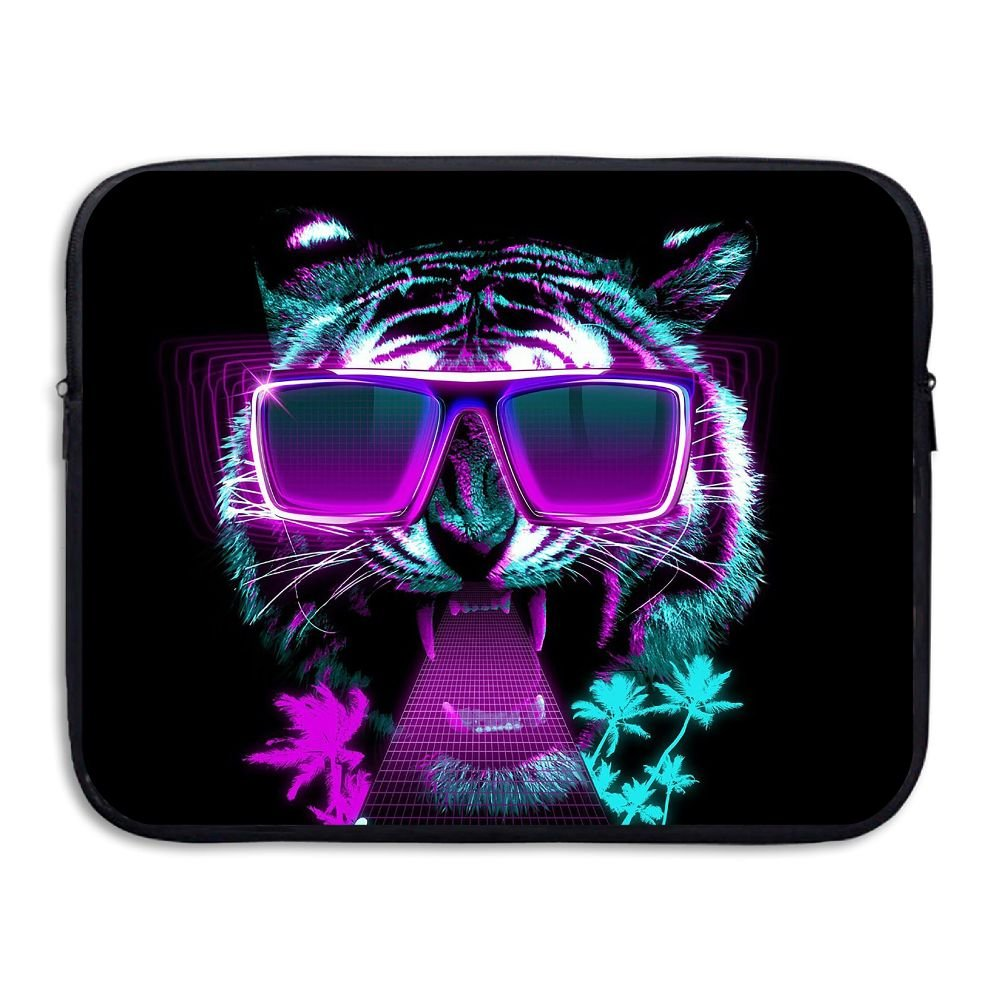 Mr.Roadman Laptop Sleeve Bag Cool Tiger With Sunglasses Briefcase Sleeve Bags Cover Computer Liner Case Waterproof Computer Portable Bags