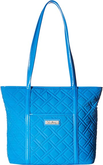 6fb39ae28c6 Image Unavailable. Image not available for. Color  Vera Bradley Women s Small  Trimmed Vera Coastal Blue Blue Tote